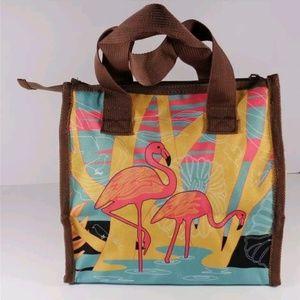 Handbags - NAUTICAL FLAMINGO BIRD ZIPPERED TOTE BAG PURSE
